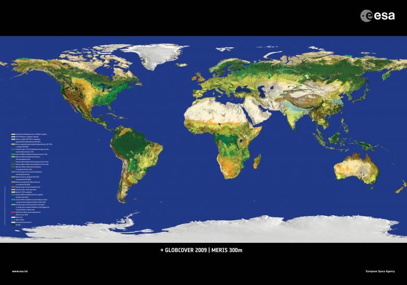 La ESA presenta el mapamundi más detallado