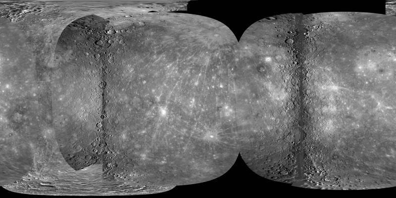 Publican el primer mapa global de Mercurio