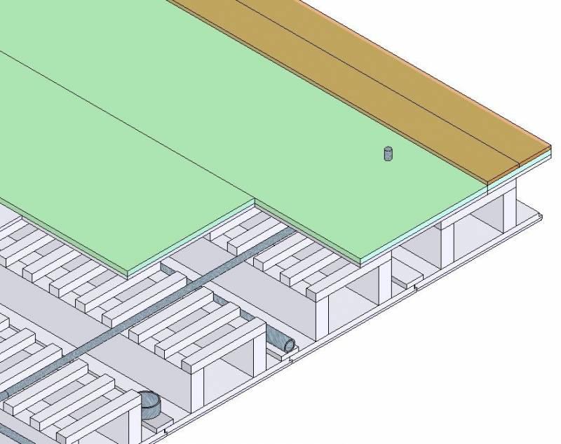 Montaje del panel estructural de madera