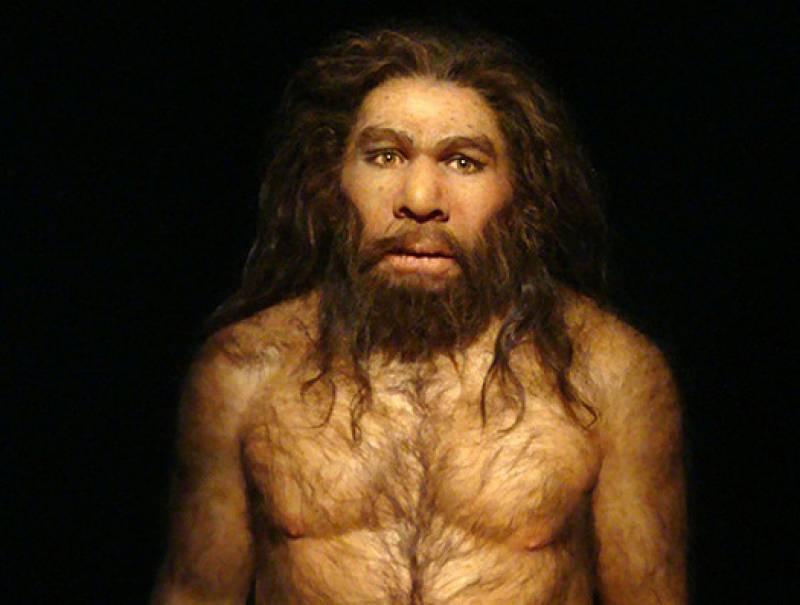 Réplica de un Homo neanderthalensis