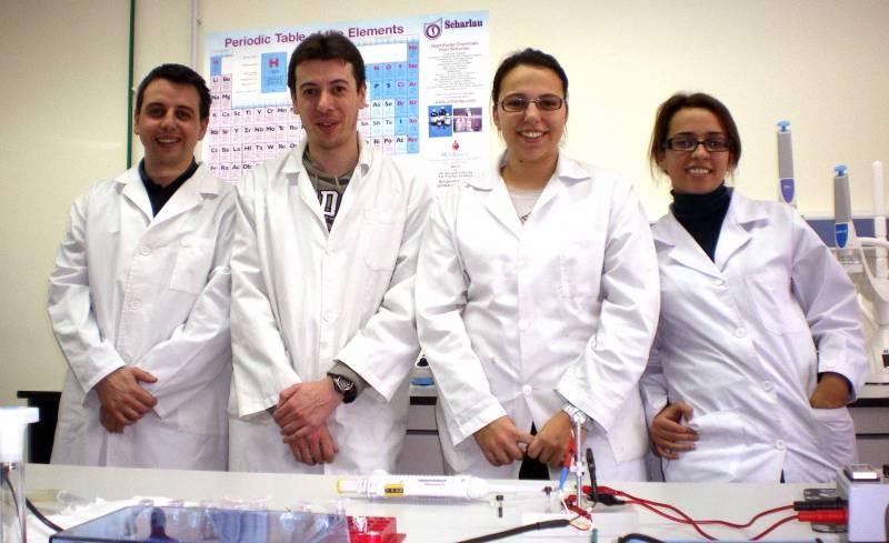 Diego Pozo, Mario Castaño, Ana Fernández y Vanesa Bertrand