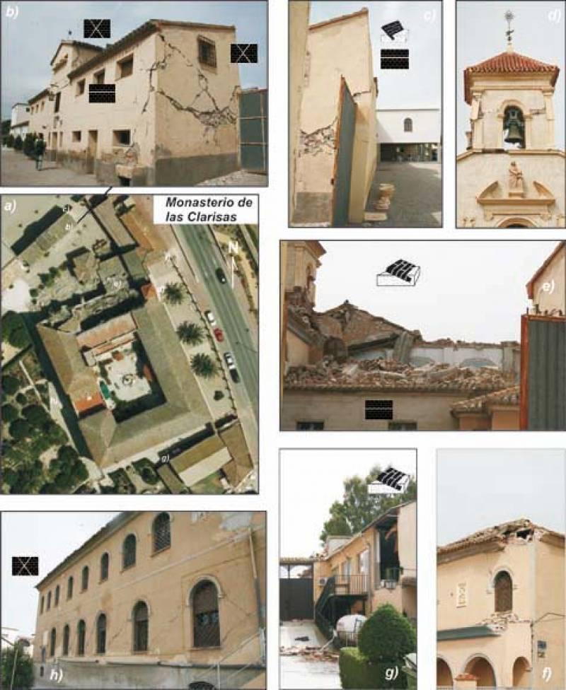 Daños producidos por el terremoto en el Convento de las Clarisas.