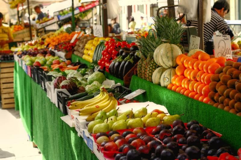 Puesto de frutas y verduras