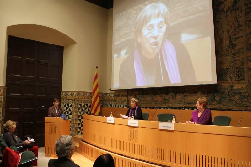 Homenaje a Lynn Margulis en el IEC (fotos: Xavi Joya)