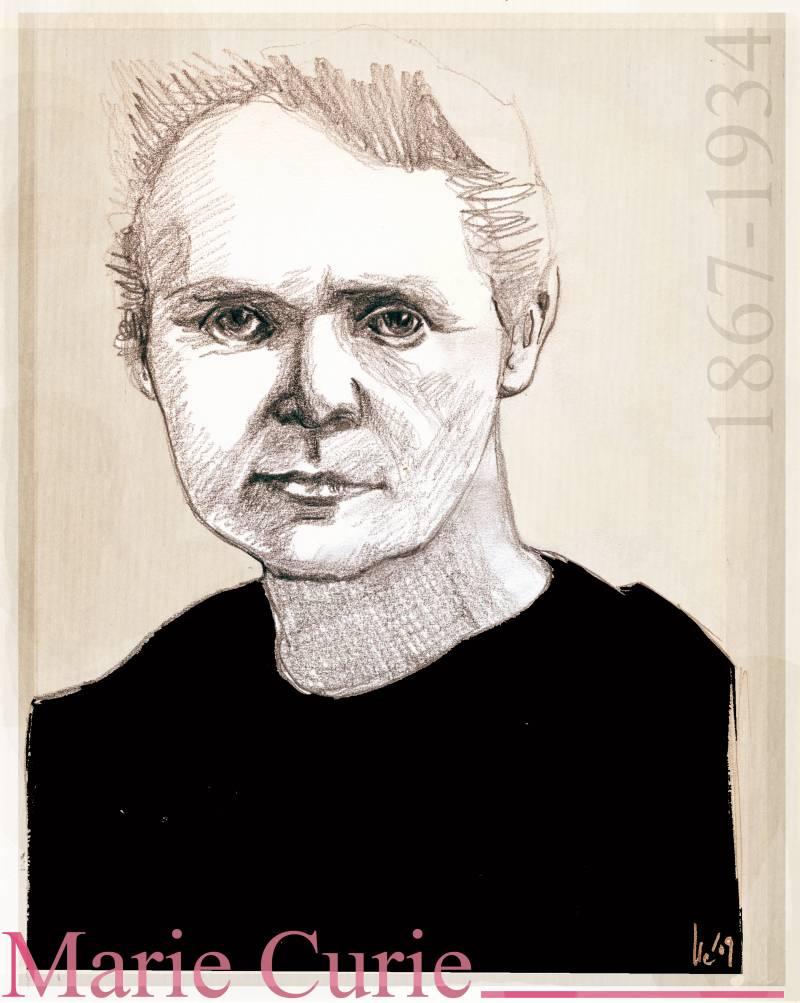 ilustracion Marie Curie