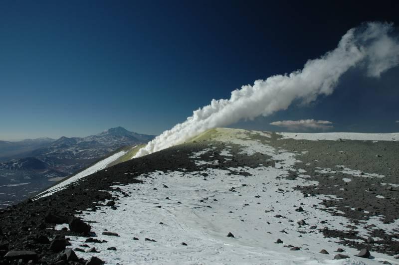 volcán, cordillera de los Andes