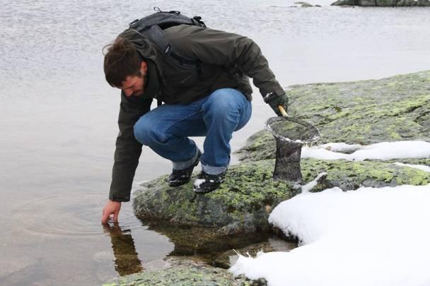 El investigador Gonçalo Rosa durante el trabajo de campo / Madalena Madeira