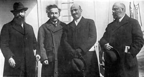 Abert Einstein con Jaim A. Weizmann durante su visita a Nueva York en 1921 / Wikipedia