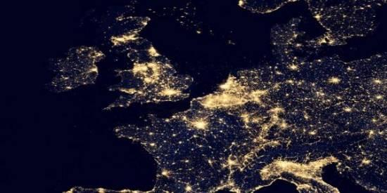 Vista nocturna de Reino Unido / NASA