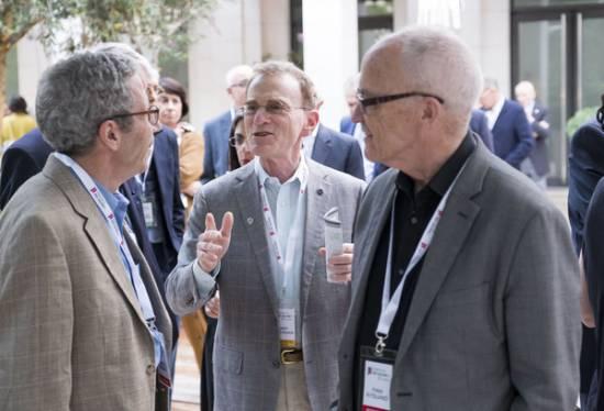 Schekman en Valencia junto a los premios Nobel de Economía Finn Erling Kydland y Eric Maskin / Fundación Premios Rei Jaume I