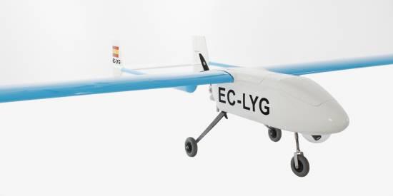 El modelo español ALTEA-EKO, el primer dron civil matriculado en Europa, diseñado por la empresa Flightech Systems.