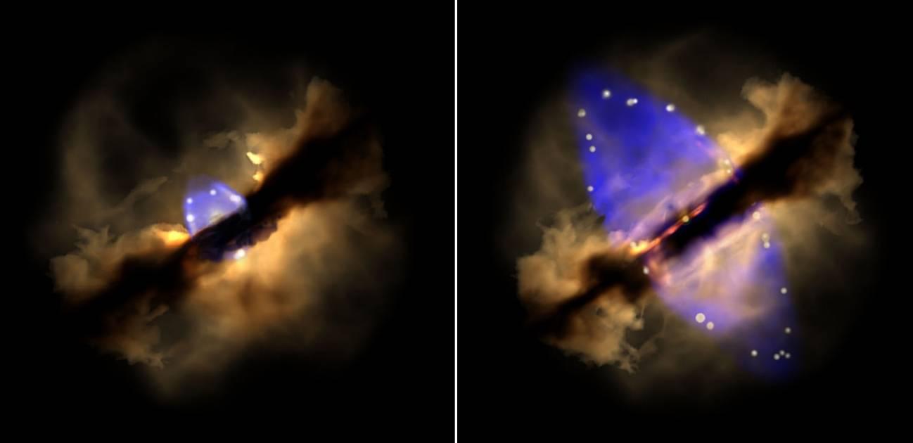 Registrada la gestación de un 'jet' estelar en tiempo real