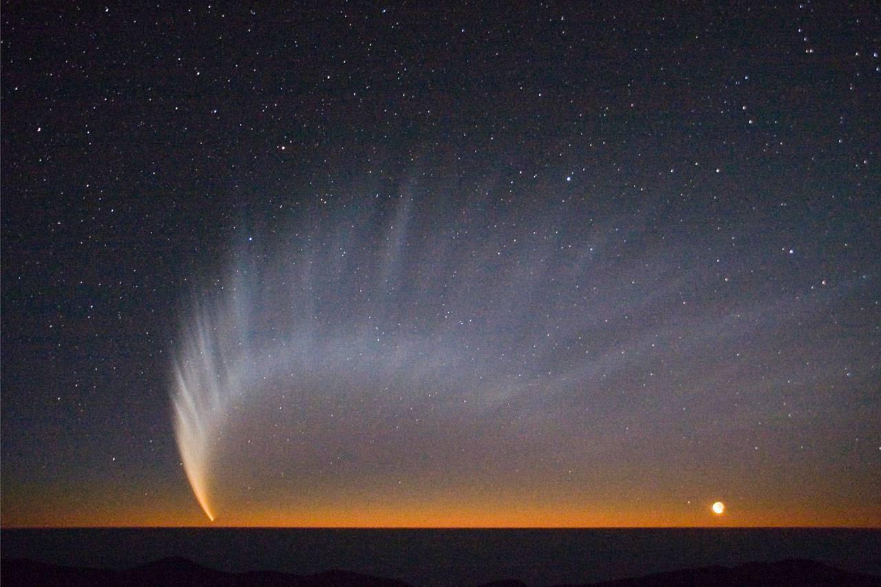 El sorprendente tamaño del cometa McNaught