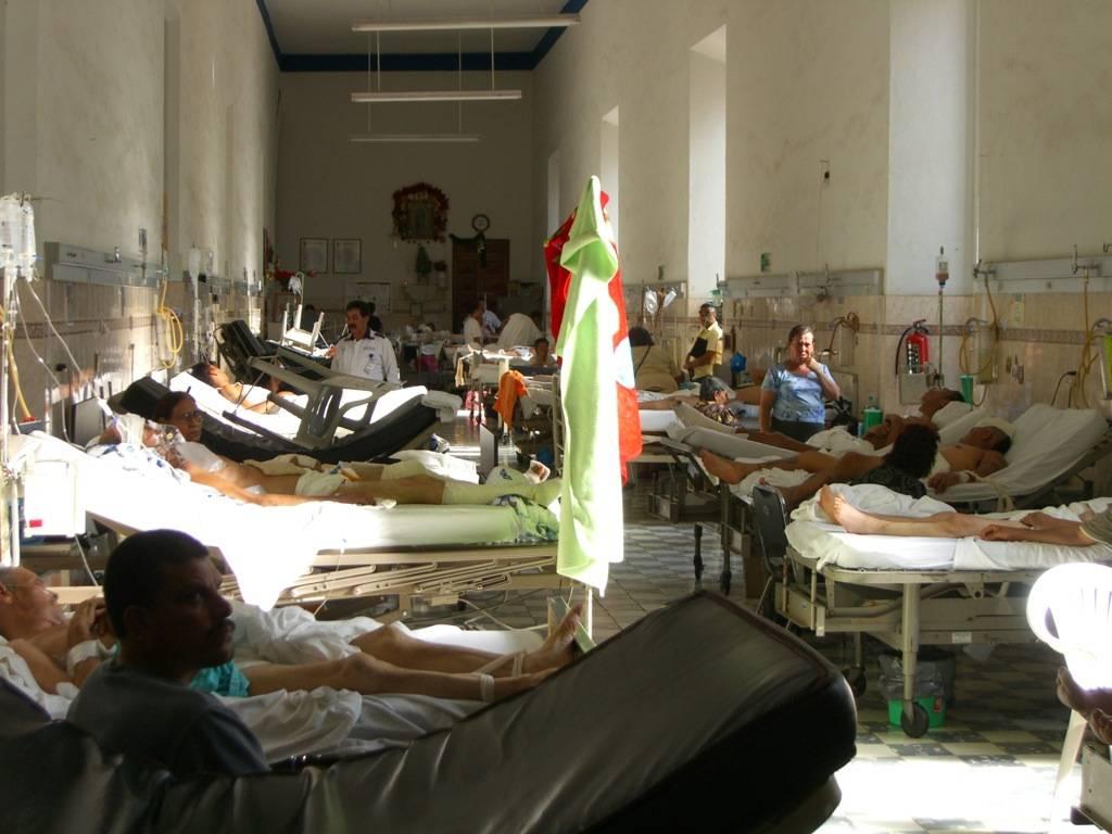 Enfermos en un hospital de Guadalajara (México).