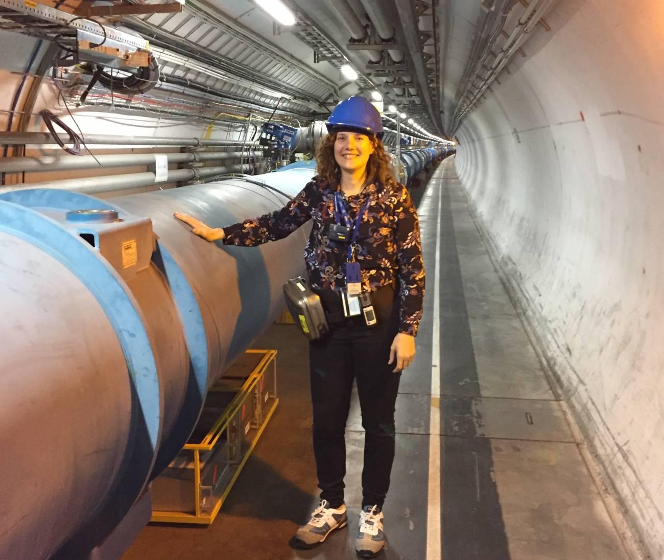 2019 belen salvachua lhc tunel - Españolas en la 'catedral' de la física europea