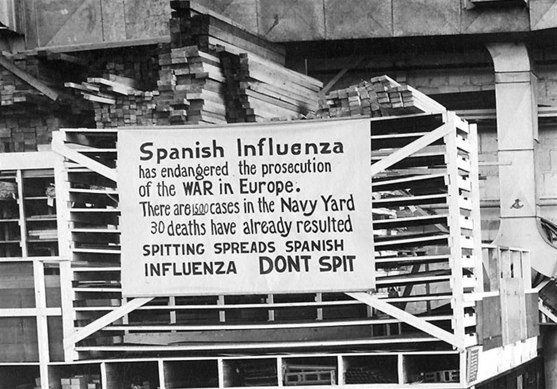 """La pandemia de 1918 se conoció mundialmente como """"gripe española"""" pese a que la mutación del virus H1N1 se habría dado en Estados Unidos y no en España."""