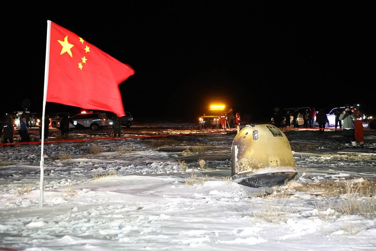 Cápsula de retorno de muestras Chang'e 5. / CNSA