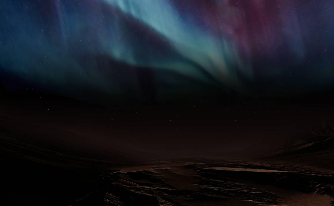 Cxn0iGRQ - Orbitador Hope de Emiratos Árabes Unidos fotografía por primera vez,  resplandor fantasmal que ilumina las noches de Marte