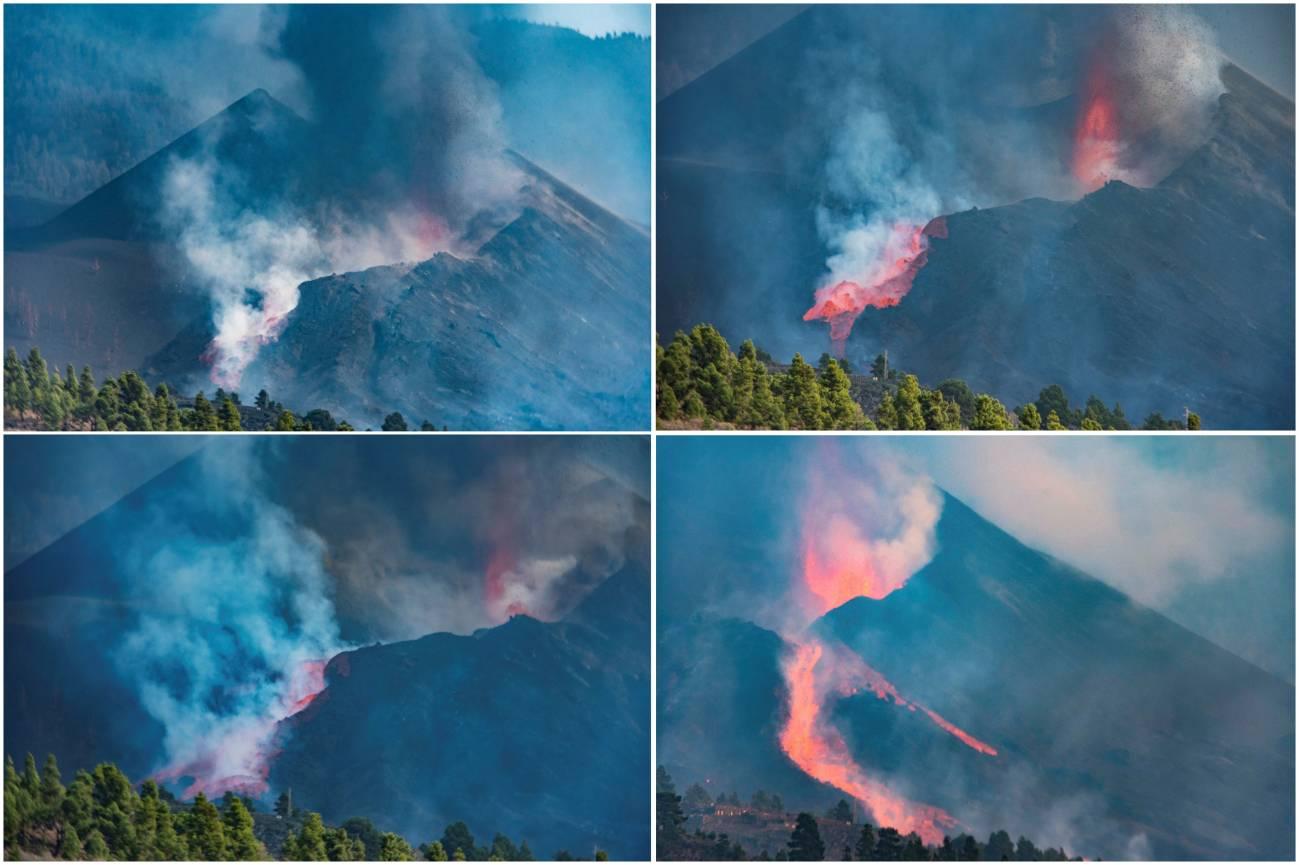 Derrumbe del cono del volcán