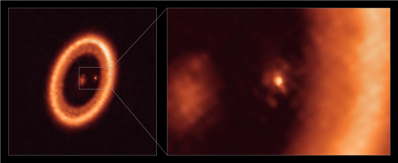 Disco de formación lunar en el exoplaneta PDS 70c