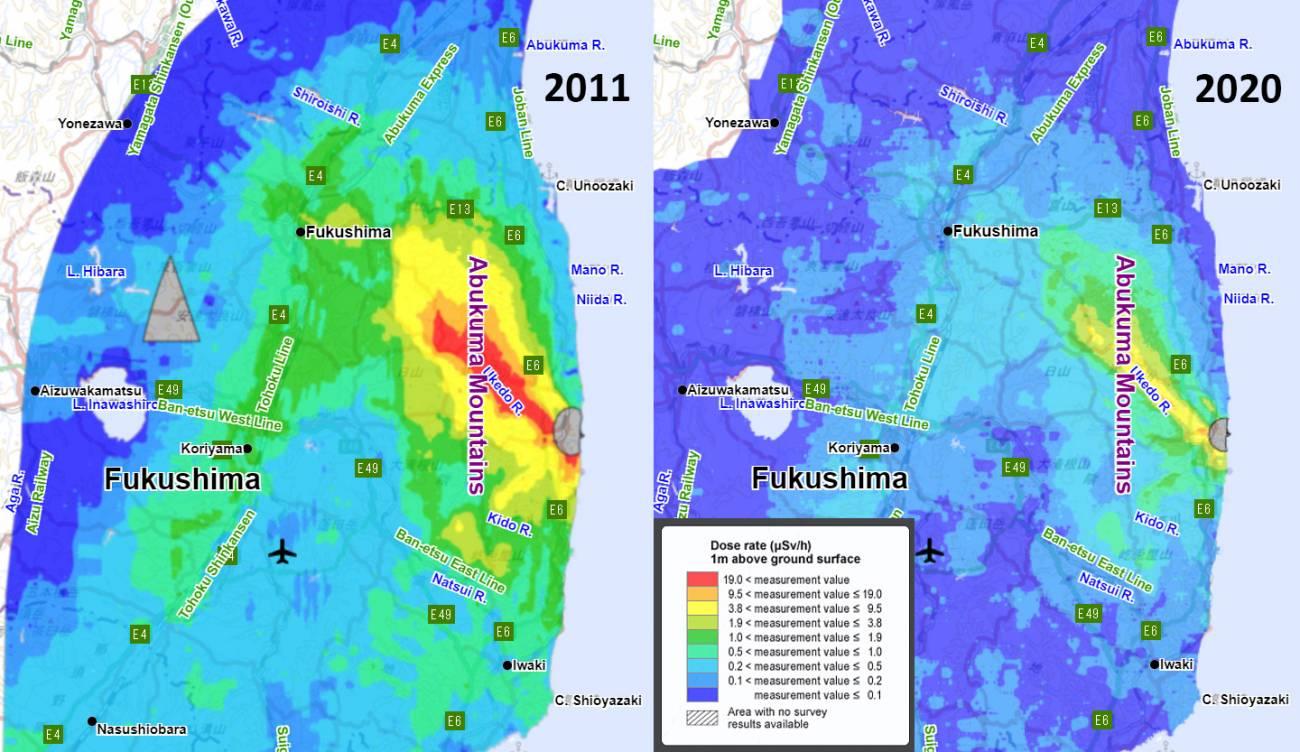 dosis radiacion - Agua radiactiva de la central de Fukushima, problema urgente 10  años después del accidente nuclear