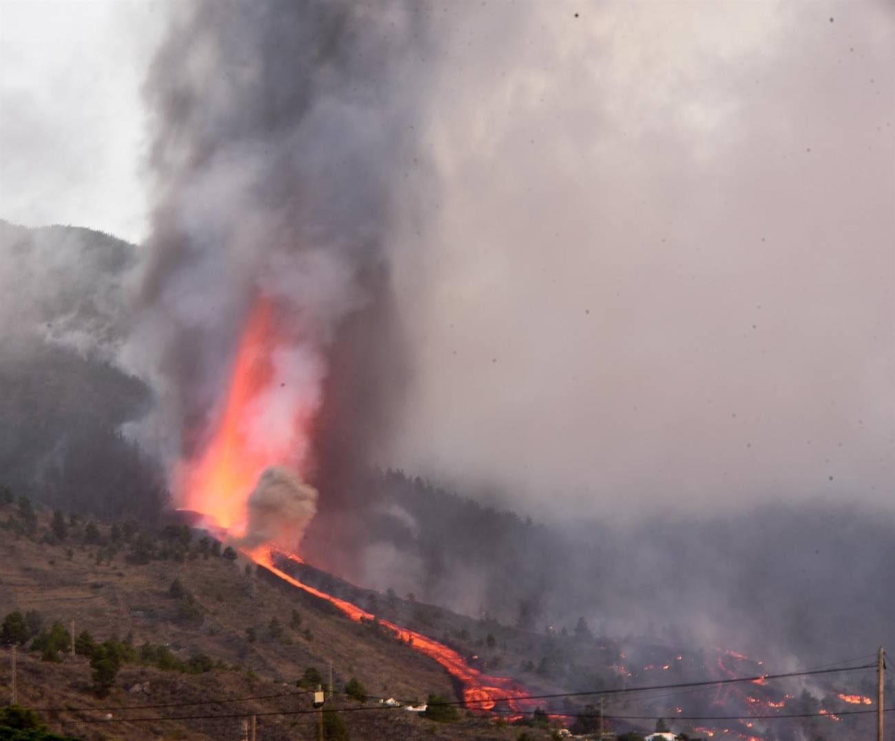 Momento de la erupción