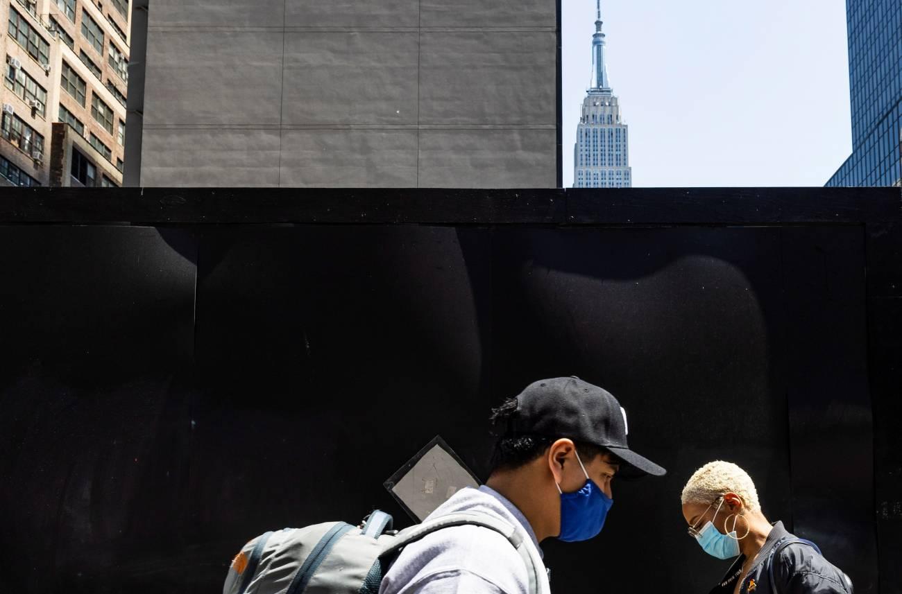 mascarillas en Nueva York