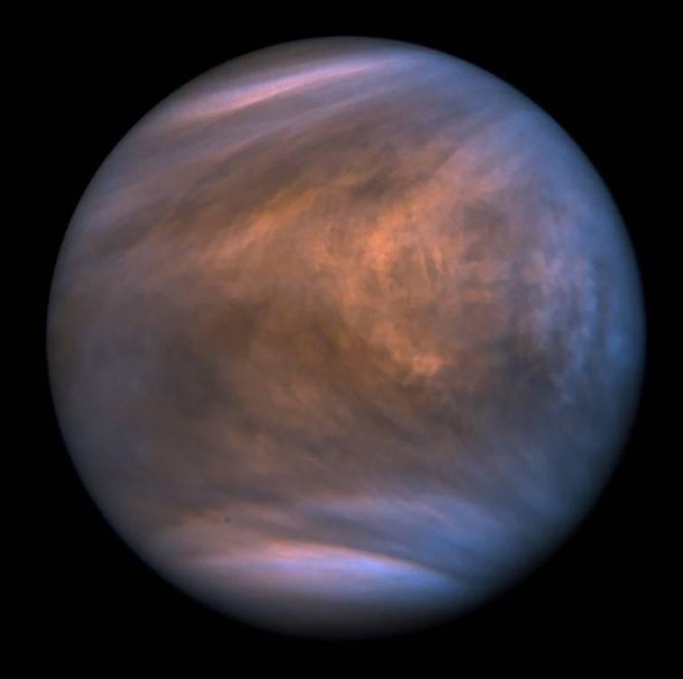 Figure 1. Venus showing the planet s clouds - Estudio Europeo  con participación NASA  asegura que  vida podría existir en las nubes de Júpiter pero no en las de Venus