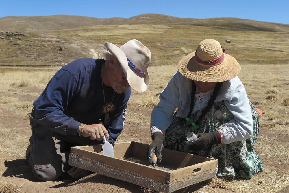 Excavaciones en el yacimiento de Wilamaya Patjxa. / Randall Haas