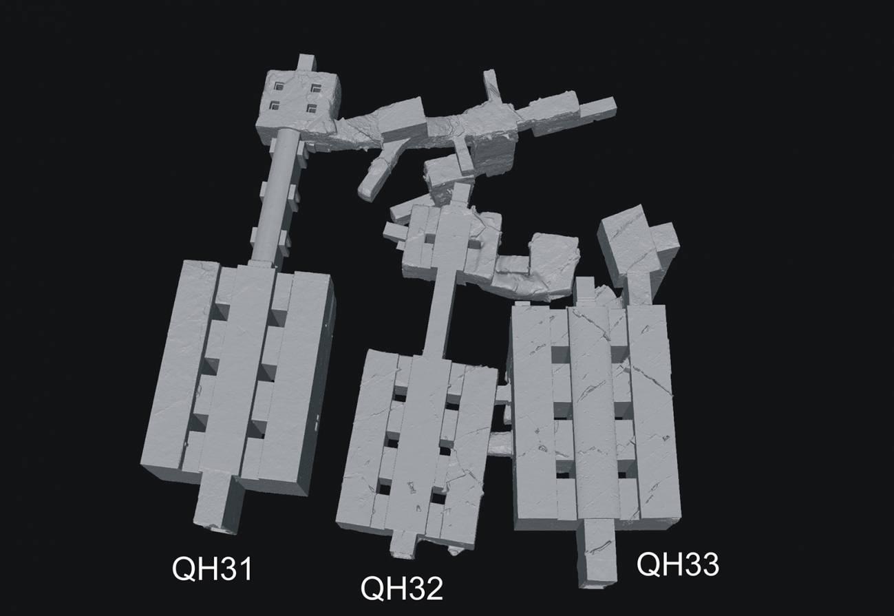 Modelo 3D de las tumbas./ UJA