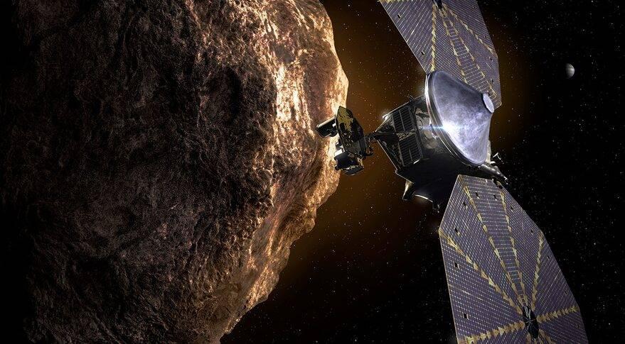 Ilustración de la nave de la misión Lucy. // SwRI
