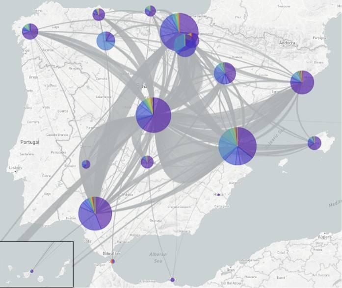 Mapa de la introducción y dispersión de las principales variantes del coronavirus