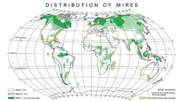 Mapa de turberas