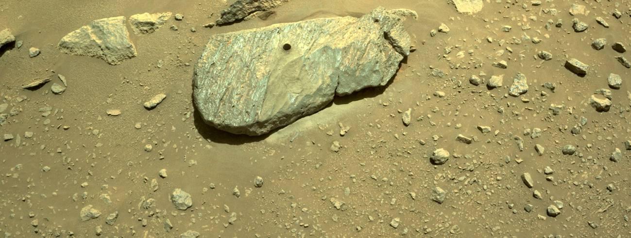 mars rock - Rover Perseverance recoge primera muestra de roca de Marte