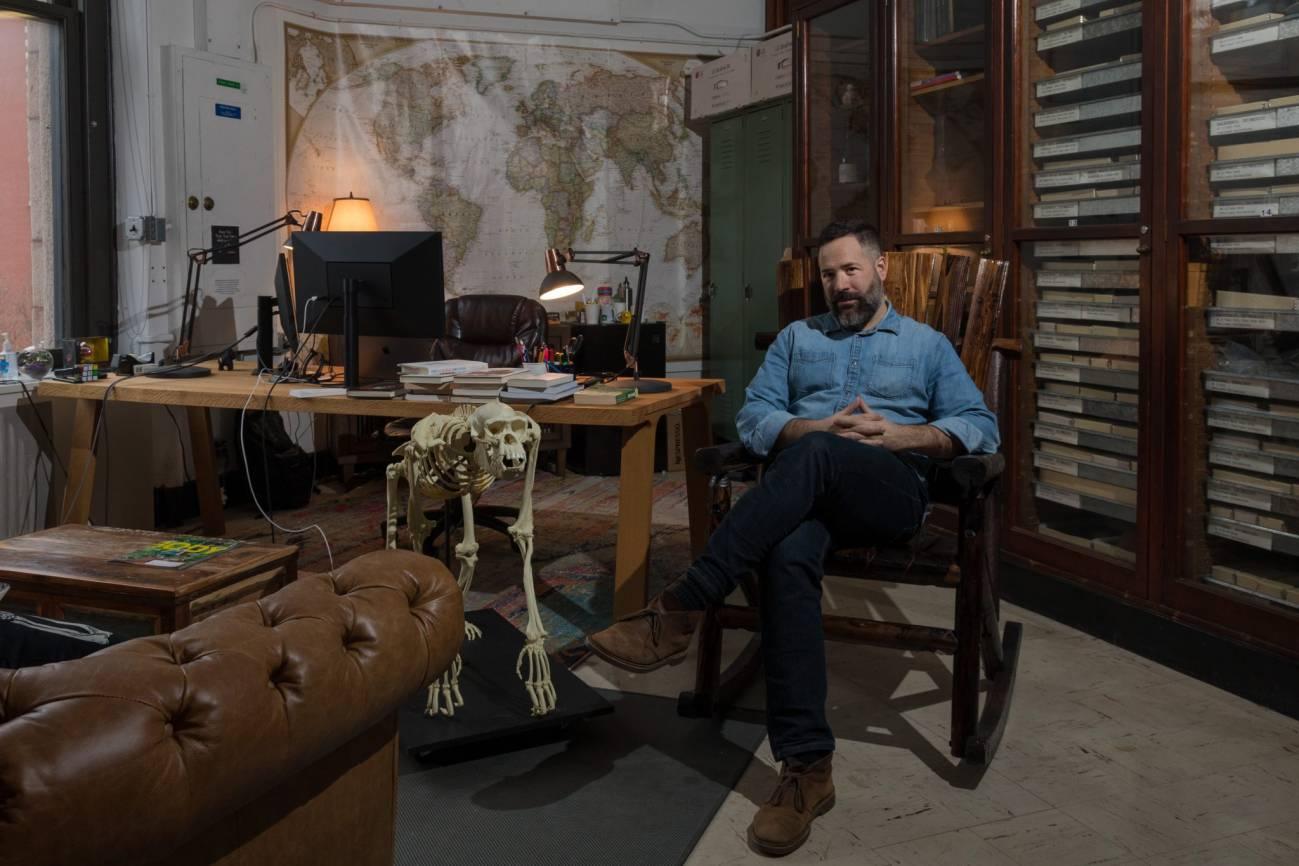 Sergio Almécija en el AMNH. / Matt Shanley