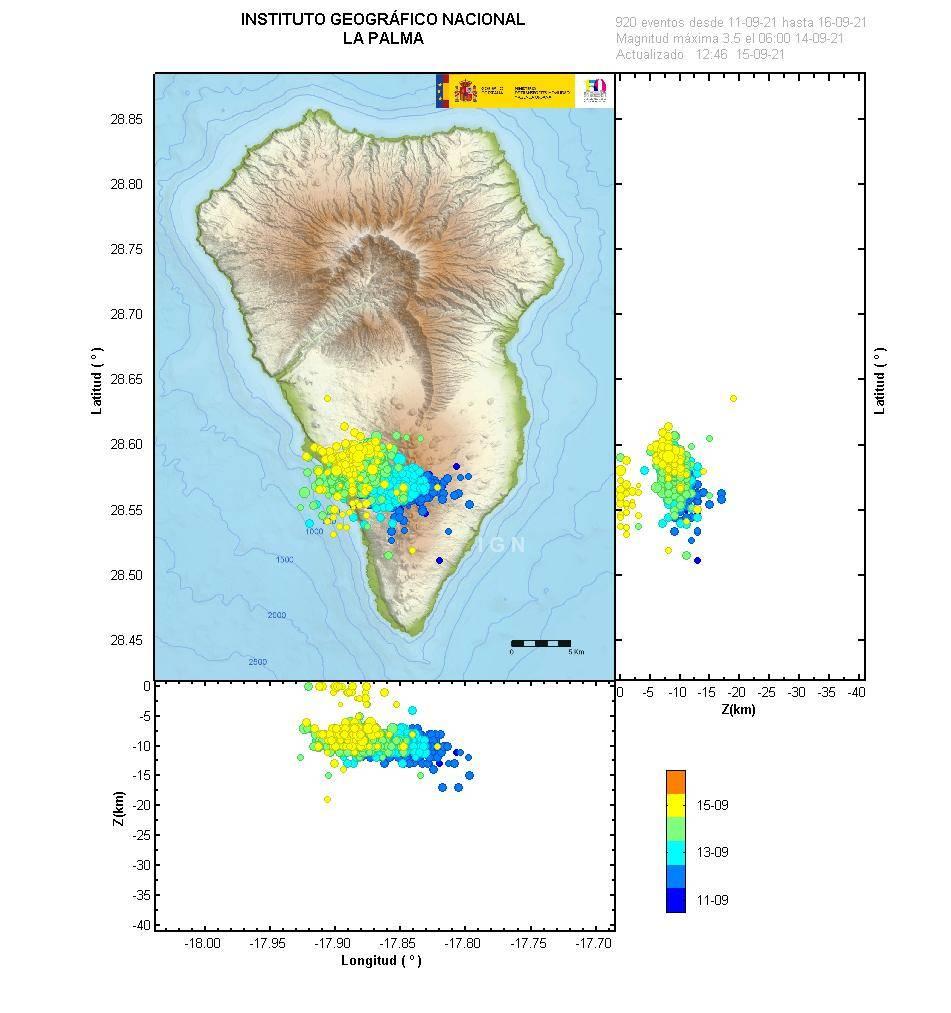PA SIS eventos 2021 09 11 2021 09 15 - Isla de La Palma registra miles de pequeños terremotos por una posible incursión de magma
