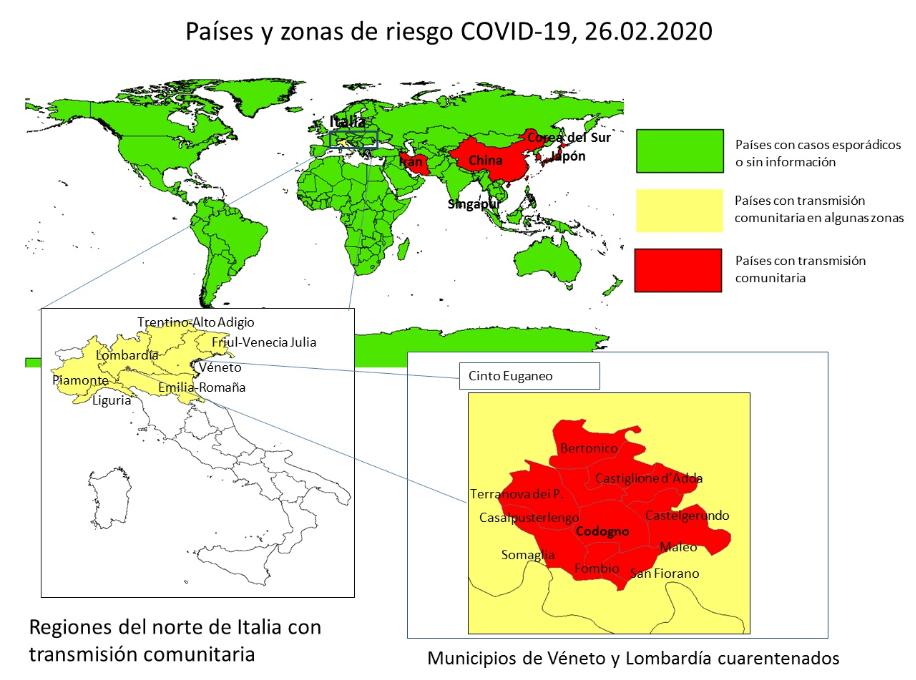 países en riesgo