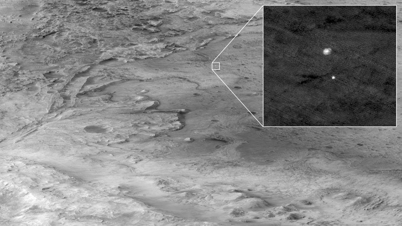 Imágenes en color de Marte, captadas por Perseverance, el nuevo robot de la NASA en ese planeta