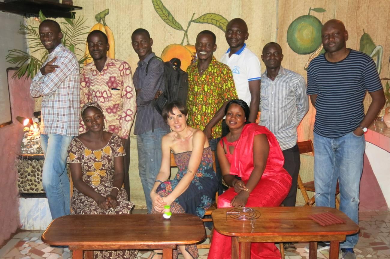 Silvia Portugal durante sus trabajo en Mali. / Foto cedida por la autora