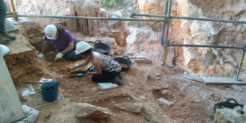 Labores de excavación sistemática en el yacimiento de Quibas (mayo 2021). / Pedro Piñero