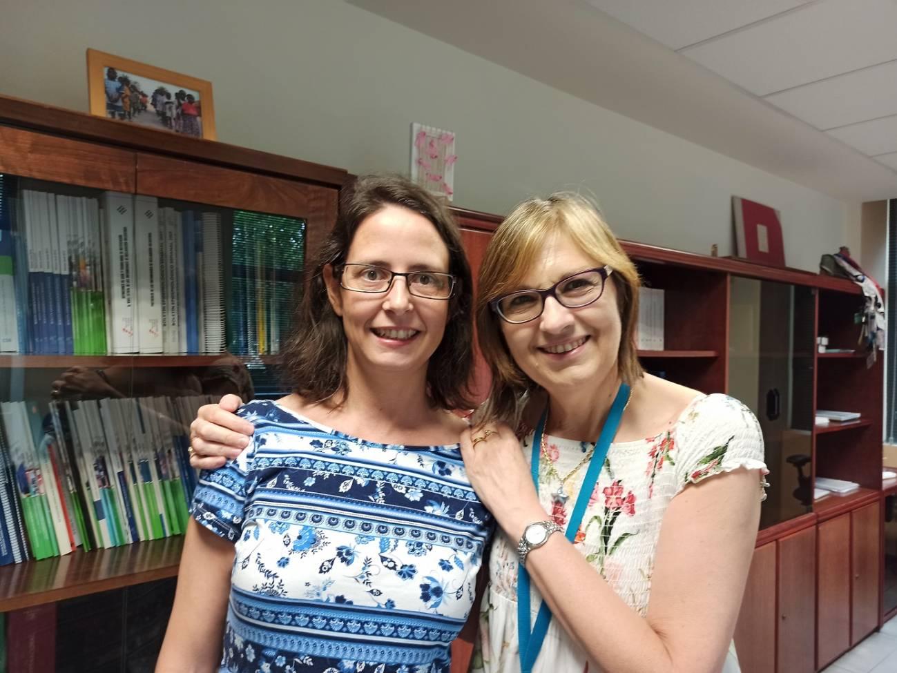 Virginia Lope y Marina Pollán