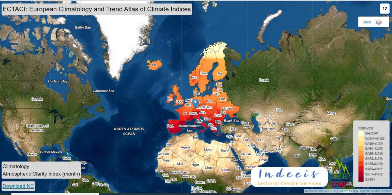 Visor cartográfico ECTACI./ IPE (CSIC)