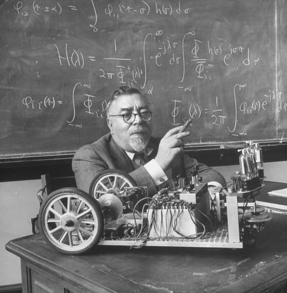 Norbert Wiener en clase