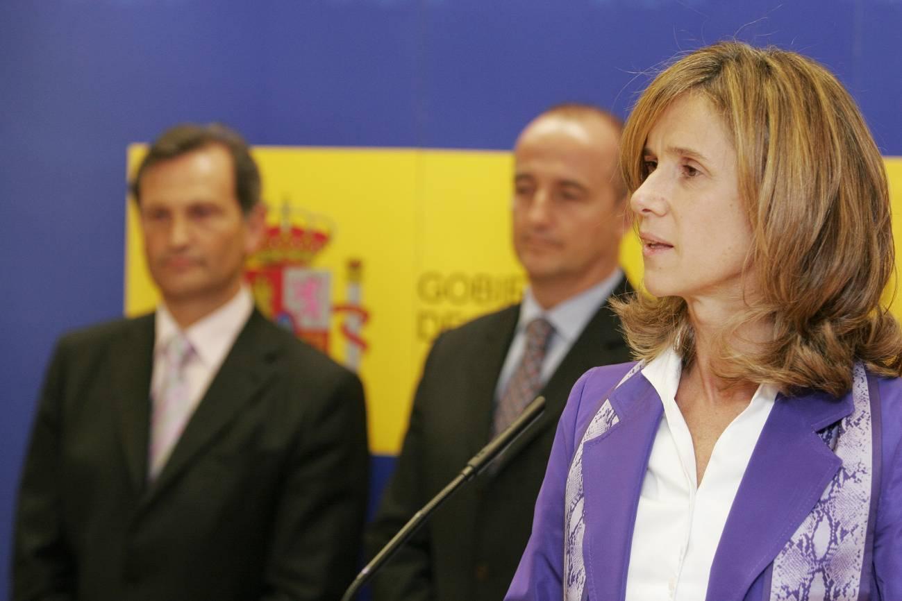 Cristina Garmendia, en la toma de posesión del Secretario de Estado Carlos Martínez