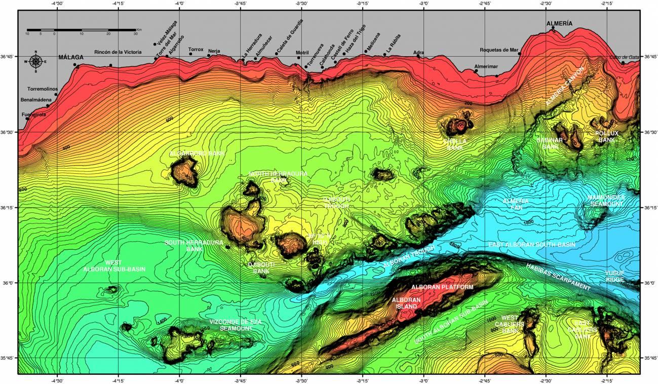 Nuevas fallas activas bajo el mar de Alborán (y II)
