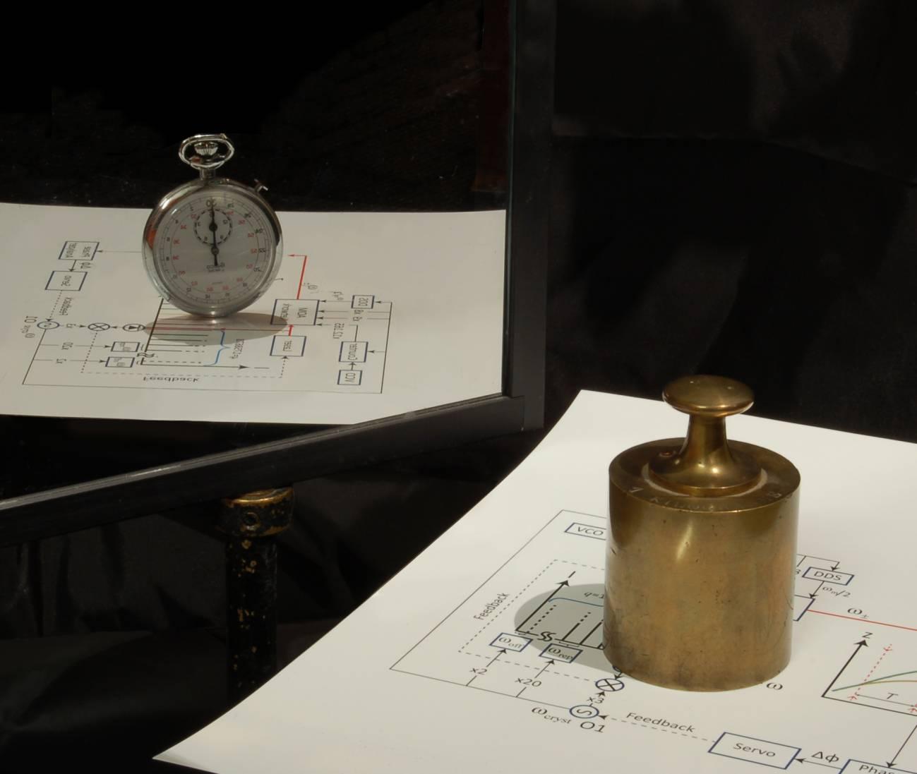 El estudio refleja como la masa puede usarse para medir el tiempo y viceversa. Imagen: Pei-Chen Kuan.