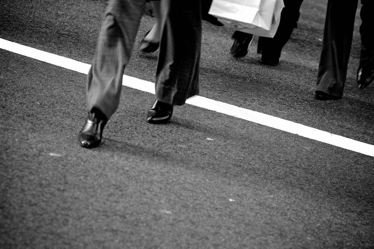 Gente andando