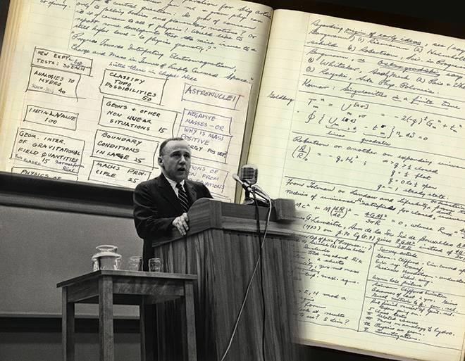 John. A. Wheeler en una conferencia