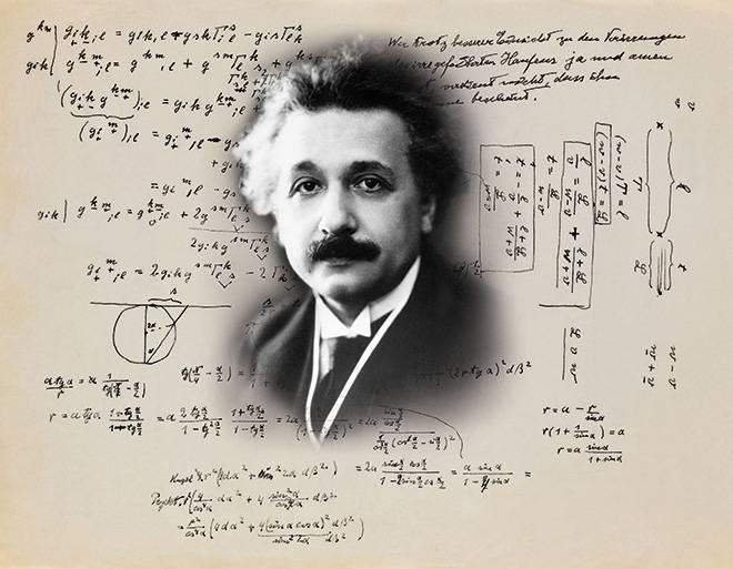 Teoría de Einstein y frase del físico.
