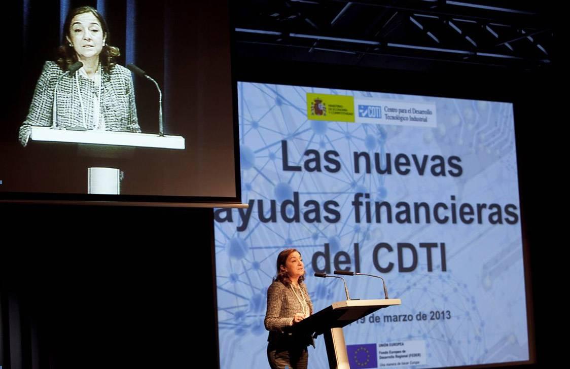Carmen Vela ha inaugurado hoy la jornada sobre las nuevas ayudas financieras. / CDTI